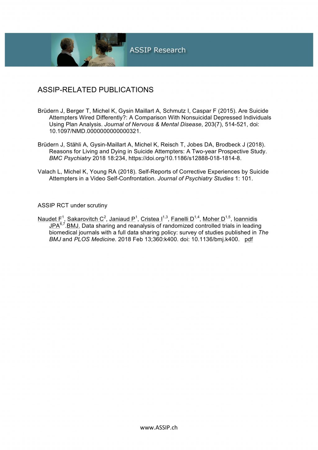 ASSIP-Related Publications